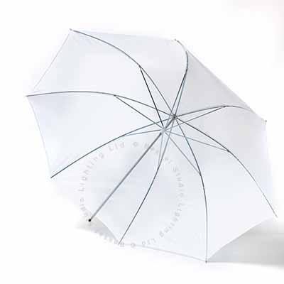 90cm Umbrella 7mm stem - White Flash through