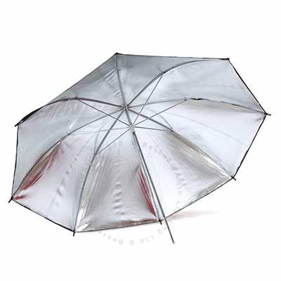 90cm Umbrella 7mm stem - Silver reflective