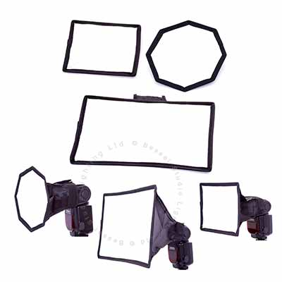 3 Pack speedlight mini diffuser kit