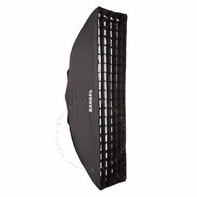 120cm x 30cm  White Softbox with 6cm grid EL-Fit