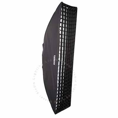 180cm x 40cm  White Softbox with 6cm grid EL-Fit